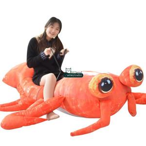 Dorimytrader Jumbo 200 cm Pop Anime Mantis Shrimp Plüschtier Riesen Gefüllte Weiche Simulierte Meerestiere Hummer Puppe Liebhaber Baby Geschenk DY61670