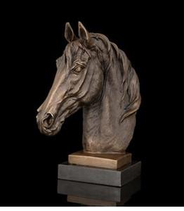 Старинные ремесла искусства ATLIE Фабрика бронзовая скульптура Лошадь головы фигурка животного бюст статуя мраморный латунь лошадь статуэтки подарки сувениры