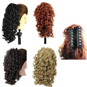 Capelli sintetici Coda di cavallo Artiglio coda di cavallo Ricci capelli ondulati pezzi estensioni dei capelli pony code da 19 pollici 165g stile Fashiion