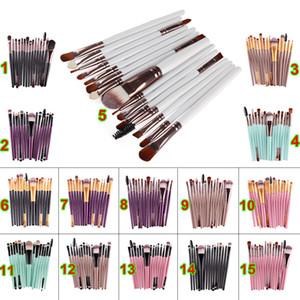 En ucuz 15 adet Kozmetik Makyaj Fırçalar Setleri Pudra Fondöten Göz Farı Fırça Setleri Makyaj Fırçalar Profesyonel Makyaj Güzellik Araçları Satışa