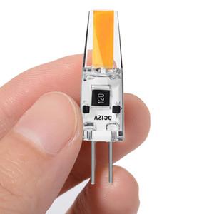 G4 COB LED del bulbo, 2W (20W Lámpara halógena de reemplazo), AC / DC de 12 voltios, no regulable, blanco cálido 3000K, paquete de 50
