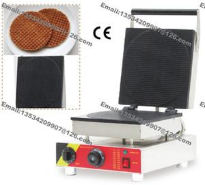 Livraison Gratuite Commercial Antiadhésif 110v 220v Électrique 25 cm Ronde Stroopwafel Néerlandais Syrop Gaufrier Fabricant Fer Baker Machine Moule Plaque