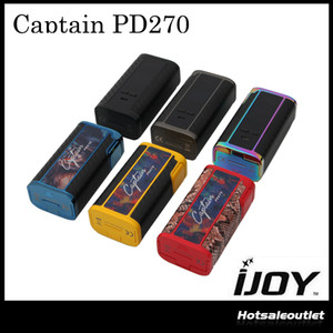 Autentico iJoy Captain PD270 TC Box Mod 234W con 2 batterie da 20700 6000mah Firmware aggiornabile Unico Custom User Mode 100% originale DHL F