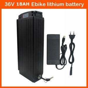 Batteria ad alta potenza 1000W 36V Ebike Batteria al litio 36V 18AH Batteria a rack posteriore 36v con fanale posteriore 30A BMS e caricabatterie 42V 2A
