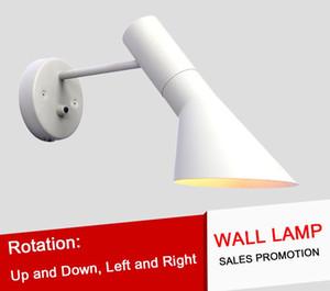 L5-Modern Criativo AJ Arandela Lâmpada E14 Arne Jacobsen Clássico Luzes Sala de estar Quarto Den Arandela Frete Grátis