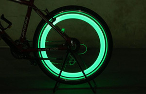 Nova Bicicleta Da Bicicleta LED Rodas Spokes Luzes Da Roda Da Lâmpada Da Motocicleta carro Elétrico de flash de silicone ciclo de luz de alarme acessórios SC040