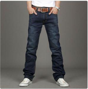 Wholesale-2016 New Fashion brand Famous Mens Designer Jeans Blue Korean Version Warm Thicken Cotton Denim Trousers for Man big Size:28-38