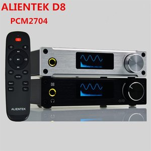 Freeshipping Hot Amplifier Classe D ALIENTEK D8 Full Pure Digital HiFi Amplificatori Stereo USB Ottico Coassiale Audio Amplificador Power PCM2704