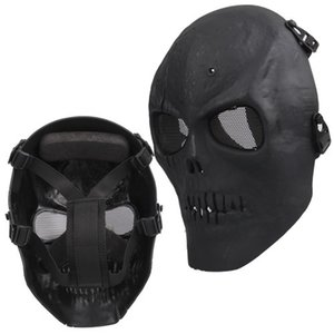 NHBR Airsoft Mask crânio completo máscara protetora militar - preto