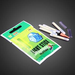 50 paquetes 4.5 * 37 mm Night Fishing Luminous Float Fluorescent Light stick Varilla Multi-Color LightsDark Glow Stick herramientas de pesca