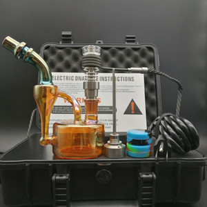 DHL libera E Digital Dab Nail Kit Dry Herbal aceite esencial Vaporizador kit de trabajo con Color chapado Dab rigs vidrio agua bong