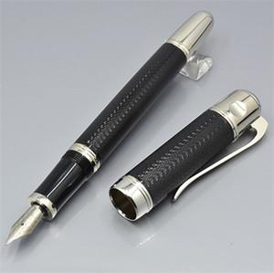 Top Calidad Negro / Azul / Vino Red Fountain Pen Oficina Papelería 0.7mm Pens de tinta de caligrafía de punta para regalo de negocio