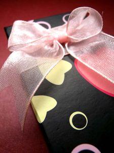 [سبعة بسيطة] عالية الجودة نجمة صندوق مجوهرات مربع / الأزياء الحبيب قلادة عرض / نقطة حلقة حالة / هدية مربع التعبئة والتغليف مع bowknot