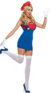 Mario super Marie water pipe overalls, stage costume Cosplay Halloween day sexy costumes free shipping