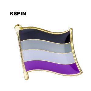 Asexual Badges Flag Badge Flag Lapal Pin en la mochila para la ropa XY0137