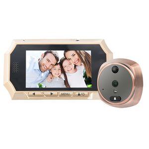 4.3 дюймов Беспроводной дверной глазок камеры ИК ночного видения пир обнаружения движения видео глазок фото принимая записи видео максимальная 32GB