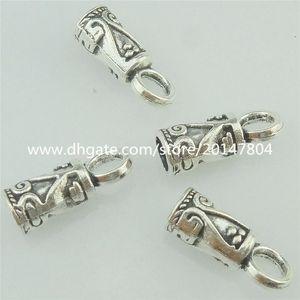 16478 70PCS Vintage Mini 14mm Cap Joyería Bail Chain Chain End Bead Tassels Finding