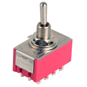 1Pc 12-Pin Mini Toggle Switch 4PDT 2 Position ON-ON 2A250V 5A125VAC MTS-402 B00021 BARD