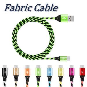 Micro USB Chargeur Câble de Charge 3ft Longue Nylon Tressé USB TYPE C Câble Sync Données Chargeur Cordon pour Téléphone Portable Android