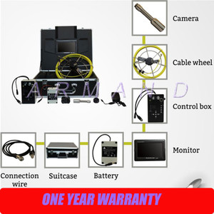 Drain Sewer Cleaning Survey Cameras with Meter Counter 710DC Industrial Pipe Sewerage Drainage Inspection Camera Systems