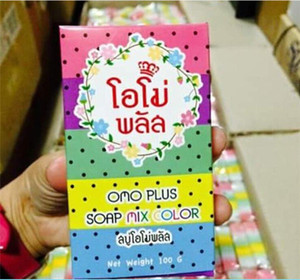 Best Seller Brand Arrivals OMO White Plus Soap Mix Color Plus Five Bleached White Skin 100% Gluta Rainbow Soap from janet