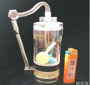 Kostenloser Versand --- Alkohol Lampe kommt Acryl Shisha - Glas Shisha Pfeife Glas Gongs - Ölplattformen Glas Bongs Glas Shisha Pfeife