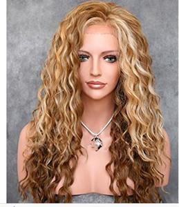 2019 Hot Sale New Synthetic Frente Lace Wigs Long Wave corpo longo peruca de cabelo de alta qualidade Transporte livre
