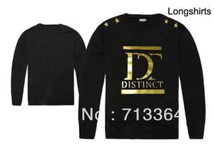 2018 Otoño e Invierno nueva llegada de la moda distintiva especial hip hop hombres de manga larga camiseta de buena calidad más el tamaño xxl 100% algodón de impresión