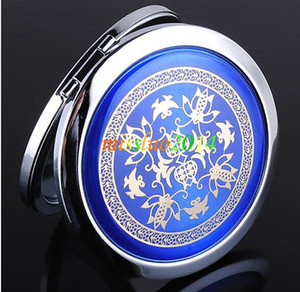 Wholesale - Best Price 150pcs lot cosmetic pocket compact stainless makeup mirror gift JZ02
