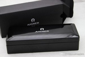 Free Shipping - Aigner Copy High-end Clamshell Black Wood Pen Box Office And School stationery Gift Box