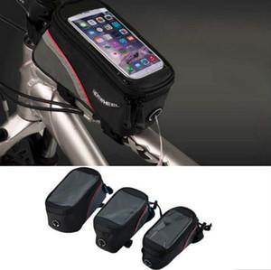 B-04 2016 yeni ROSWHEEL Bisiklet Bisiklet Bisiklet çanta panniers Çerçeve Ön Tüp Çanta Cep Telefonu Için MTB Bisiklet Dokunmatik Ekran BICYCLE TELEFON çantası