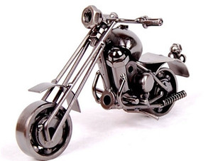 2016 Nueva Decoración de Ministerio del Interior de Hierro Motocicleta Hecho A Mano de Metal Artesanía Motocicleta Modelo Obras de Arte Regalos de Navidad m34