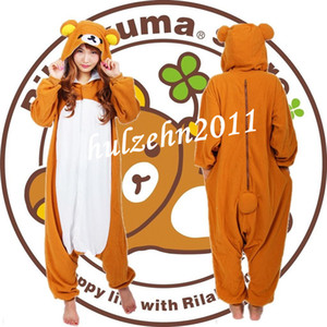 Atacado-NEW Rilakkuma Pijamas Anime Cosplay Unisex Adulto Onesie Sleepwear