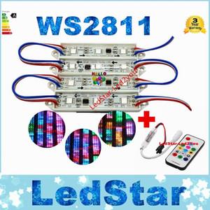 도매 500pcs / lot 5050 Led 모듈 rgb ws2811 Led 채널 조명 DC 12V 방수 IP67 Led 옥외 조명 CE ROHS UL SAA