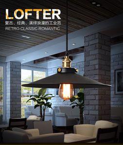 Retro asılı tek led Yatak Tavan Vintage Sarkıt 1.5m Tel aydınlatma Işık Kolye siyah Ruh Depo e27 yuvarlak Loft ışıkları