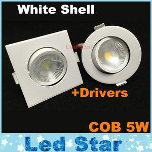 5W светодиодные затемнения светильники свет белый корпус COB светодиодные светильники светодиодные утопленный потолок вниз освещает AC 110-240В