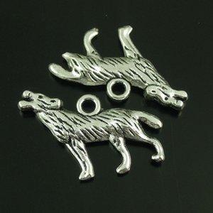 10 Unids / lote Antique Silver Wolf Alloy Colgante Encantos Joyas Encontrar 26 * 16 * 3mm AU38643 fabricación de joyas