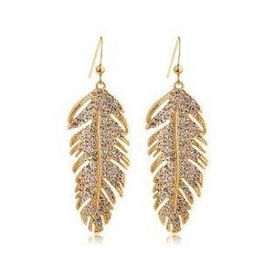 Amore per sempre 2016 più nuovo 18 K oro argento amore ali orecchini di lusso da sposa moda gioielli piuma coreana per le donne