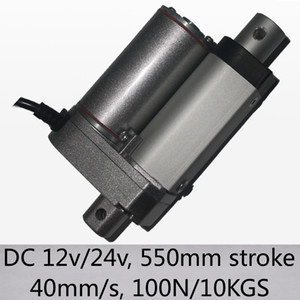 "22 ""/ 550mm 긴 스트로크 전기 선형 액추에이터 40mm / s 고속 100n 10kgs 부하 dc 12v 및 24v"