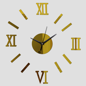 2016 new watch real mirror acrylic diy combination digital wall clock clocks watch time-limited quartz living room free shipping TY2005