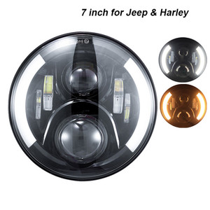 """7 pulgadas redonda Daymaker proyector H4 LED faro para Jeep Wrangler JK TJ LJ 7 """"Halo Angel Eye luz de señal de giro del faro de conducción"""