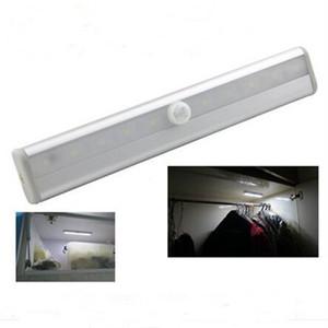 Edison2011 10ledы ночные огни беспроводной PIR авто датчик движения Света умный портативный инфракрасный индукционная лампа шкаф шкаф