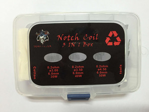 Authentic Demon Killer 3 en 1 préencollé SS316L Box Kit Kit 0.2ohm Premade Wires Japon coton bio pour atomiseur DHL GRATUIT