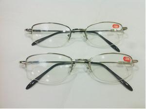Lunettes de lecture en demi-trame myopie myopie unisexe en métal demi-jante en alliage lunettes myopes 10pcs / lot