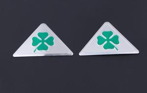 Pour Alfa Romeo QUATREFOIL 2 PCS autocollant badge voiture emblème vert delta