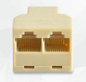 RJ-45 SOCKET RJ45 Splitter Conector CAT5 CAT6 Ethernet LAN Splitter Adaptador 8P8C Rede modular plug PC laptop cabo contato
