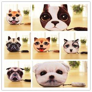 19 Design 3D imprimante chat visage chat chien avec queue sac à main sac portefeuille filles portefeuille embrayage sacs à main changement sac à main dessin animé sac à main D642