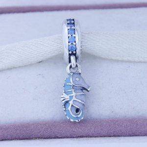 Branelli allentati Misura per i braccialetti Pandora 925 Sterling Silver Beads Tropical Seahorse Ciondolo Charm Gioielli moda fai da te Fare per le donne 1PC
