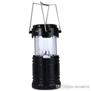 6 светодиодов slantern лампа солнечный кемпинг фонарь свет для наружного освещения пешие прогулки аккумуляторная подвесной фонарь осветительный прибор