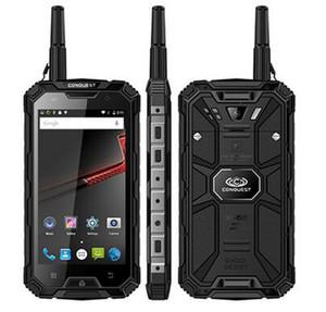 Orijinal Conquest S8 Sağlam Su Geçirmez Telefon 5.0 Inç MTK6735 Qctacore 4 GB + 64 GB 5 + 13MP Kamera WalkieTalkie Android 6000 mAh Pil Sıcak Satış